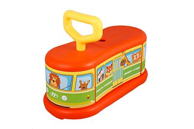 Оранжевый самокат Baby car фото