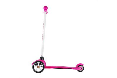 Розовый самокат Mini Scooter сбоку