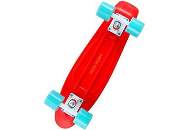Красный Пенни Борд с голубыми колесами