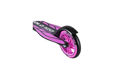 Фиолетовый самокат Соло 120 заднее колесо