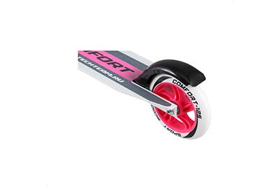 Розовый самокат для девочек TT 125 Comfort фото